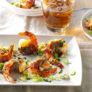 Bacon-Wrapped Blue Cheese Shrimp