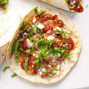 Bean & Bacon Griddle Burritos