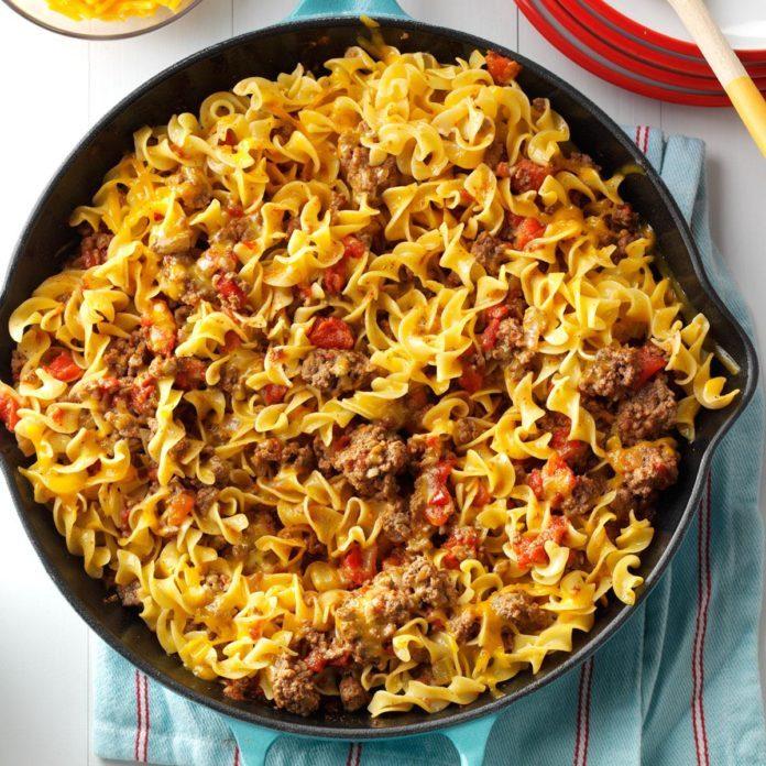 Chili Beef Noodle Skillet