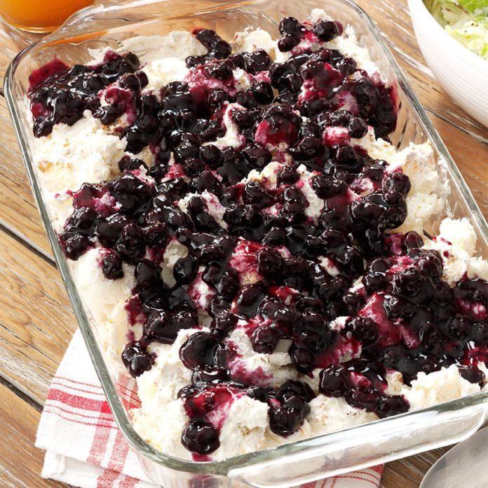 Texas: Blueberry Angel Dessert