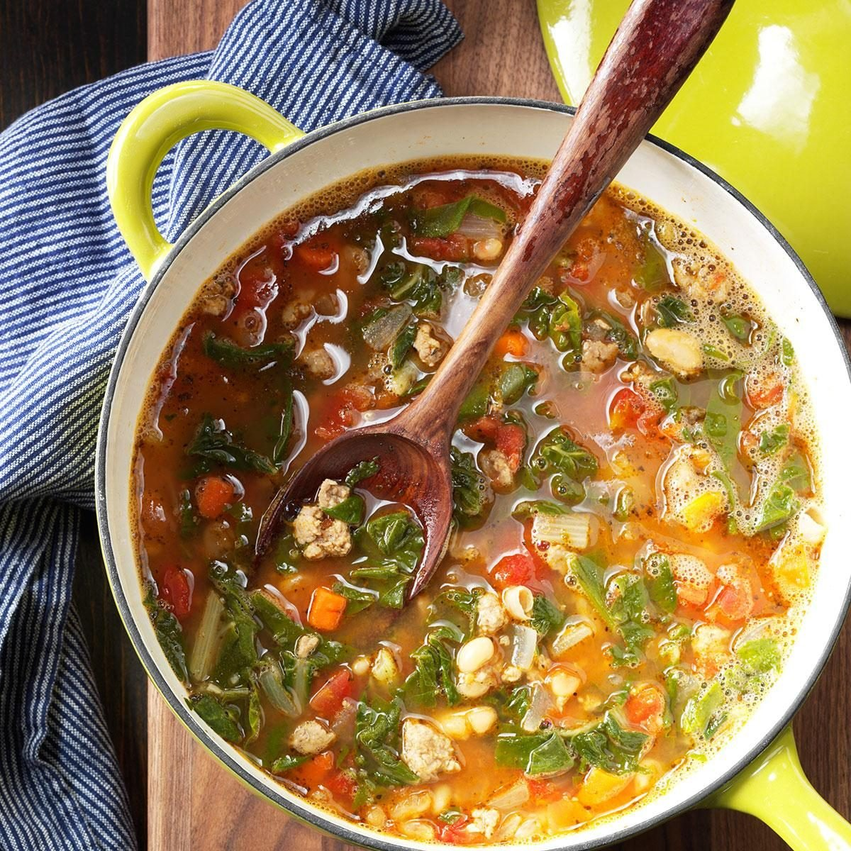 Sausage & Greens Soup