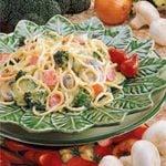Creamy Garden Spaghetti