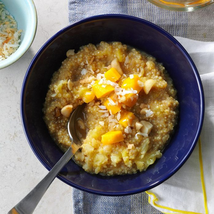 Tropical Quinoa Breakfast Bowl