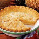 Contest-Winning Glazed Pineapple Pie