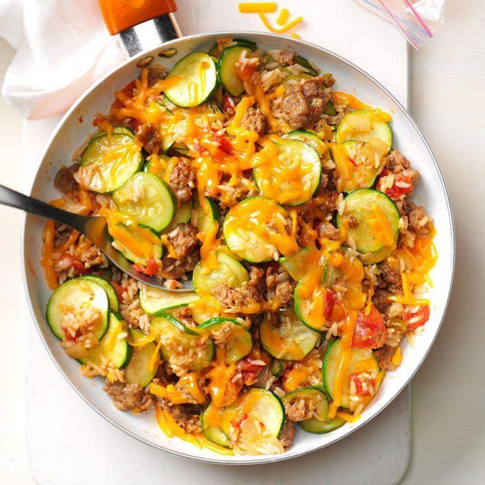 September: Zucchini & Sausage Stovetop Casserole