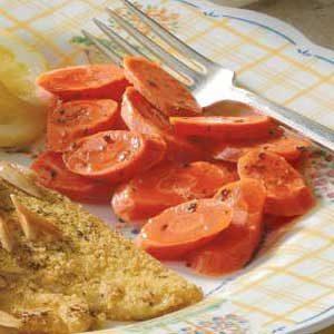 Lemon Garlic Basil Carrots