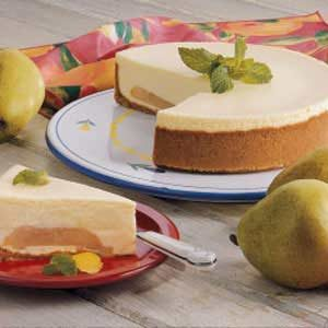 Makeover Pear Cheesecake