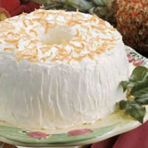 Pineapple-Coconut Angel Food Cake
