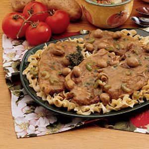 Mushroom Lamb Chops