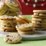 Lime Shortbread with Dried Cherries