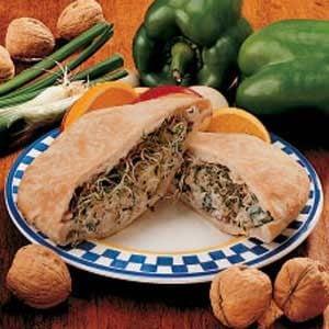 Nutty Chicken Pita Sandwiches