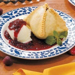 Pear Melba Dumplings