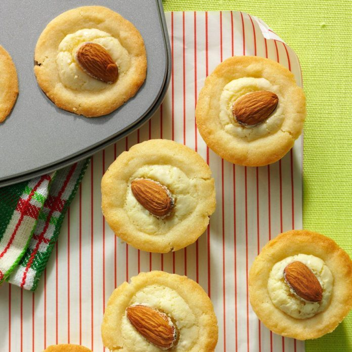 Marzipan Cups with Currant Jelly