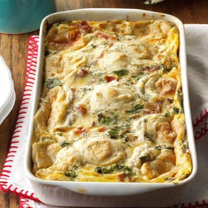 Hash Brown Bake with Prosciutto & Leeks