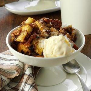 Apple-Nut Bread Pudding