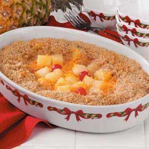 Crumb-Topped Baked Pineapple