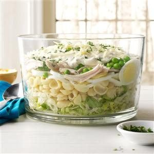 Make-Ahead Hearty Six-Layer Salad
