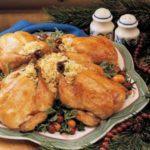 Orange-Glazed Cornish Hens