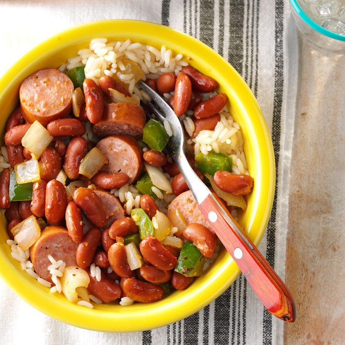 Illinois: Red Beans and Sausage