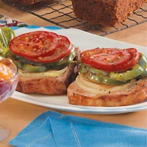 Pork Chops with Tomatoes and Peppers