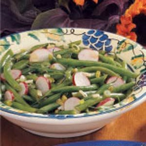 Green Beans with Radishes