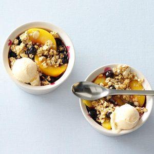 Fruit & Granola Crisp with Yogurt