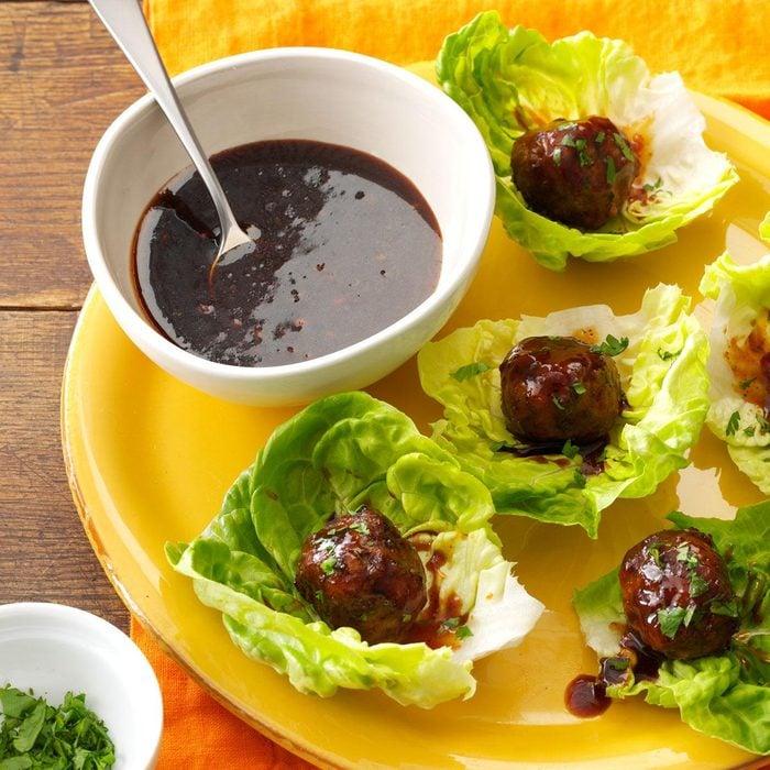 Hoisin Meatball Lettuce Wraps