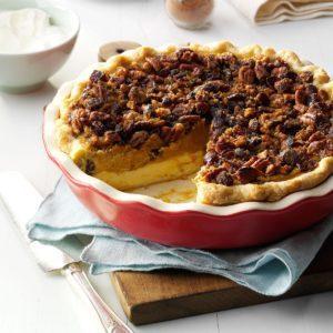 Cranberry-Pumpkin Praline Pie