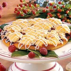 Glazed Raspberry Coffee Cake