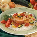 Pork Chop Veggie Medley
