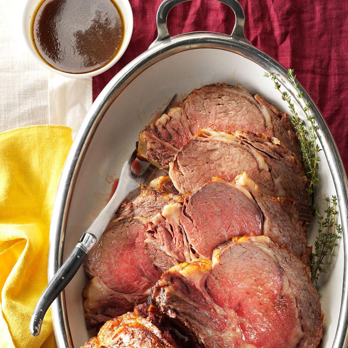 Prime Rib with Fresh Herb Sauce