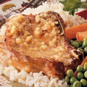 Apple-Mustard Pork Chops