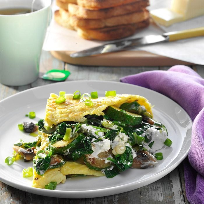 Day 3 Breakfast: Veggie Omelet with Goat Cheese