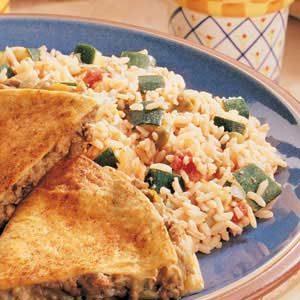Salsa Rice with Zucchini