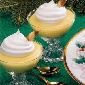 Holiday Eggnog Pudding
