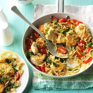 Lemon Chicken with Orzo