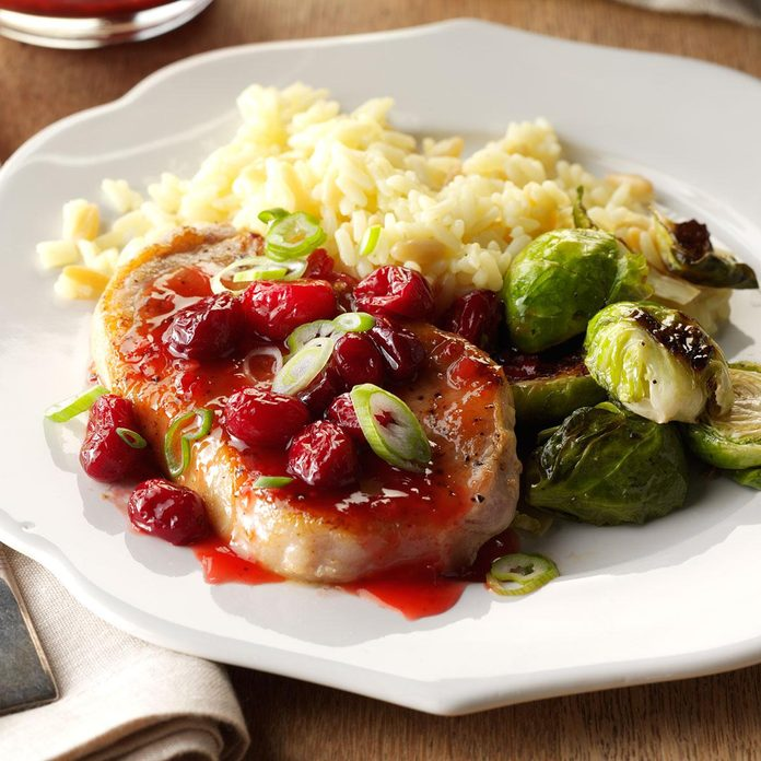 Cranberry Glazed Pork Chops
