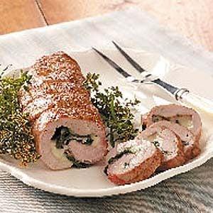 Spinach-Stuffed Pork Tenderloin