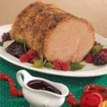 Roast Pork with Raspberry Sauce