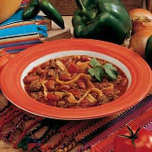Chili with Tortilla Dumplings