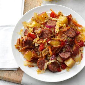 Kielbasa Hot Potato Slaw