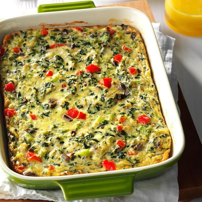 Day 11: Crab-Spinach Egg Casserole