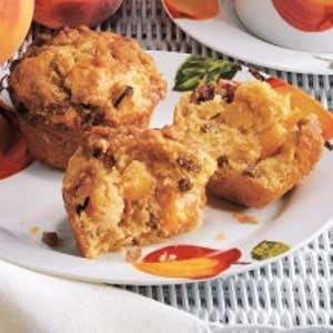 Peach Praline Muffins
