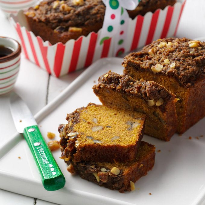 Pumpkin Bread with Gingerbread Topping