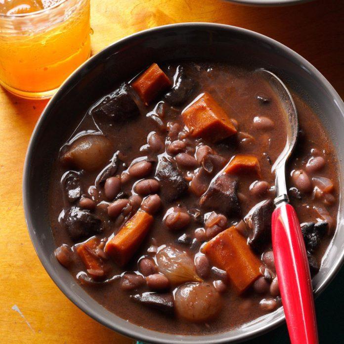 October: Mushroom-Bean Bourguignon