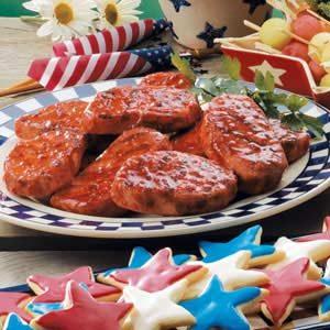 Sweet 'n' Spicy Grilled Pork Chops