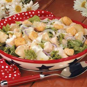 Caesar Chicken Potato Salad