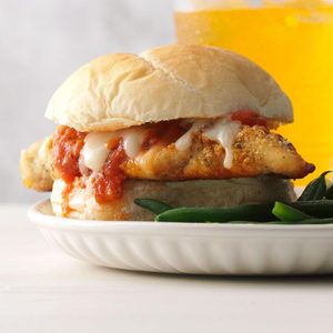 Weeknight Chicken Mozzarella Sandwiches