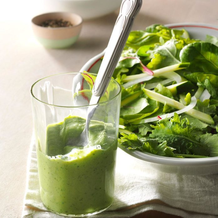 Baby Kale Salad with Avocado-Lime Dressing