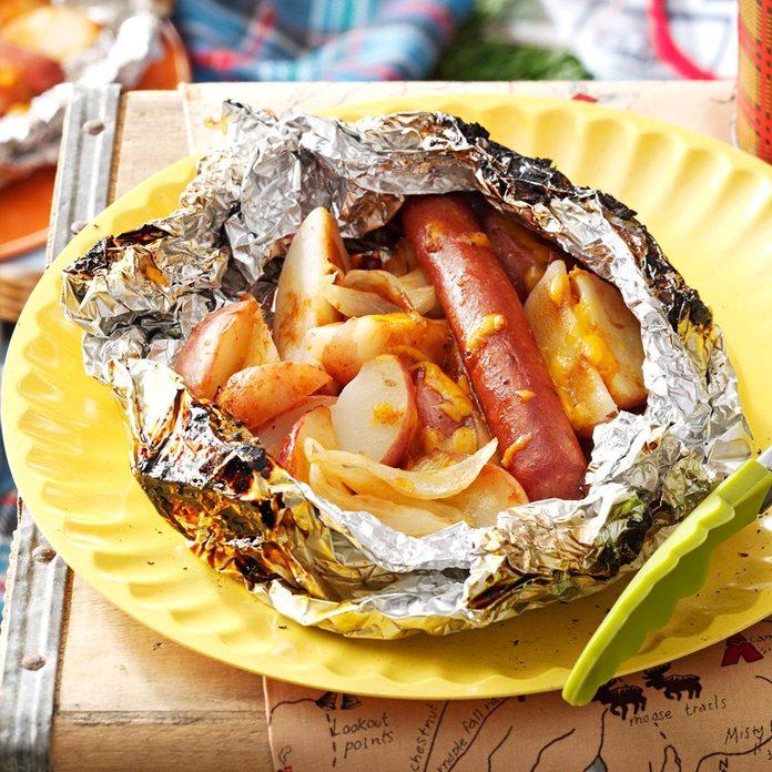 BBQ Hot Dog & Potato Packs
